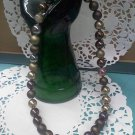 Pop bead Necklace with shades of brown pop beads 1950's Jewelry