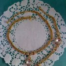 "Princess House ""Luminess"" Swarovski Crystal and goldtone necklace with bracelet set"