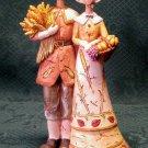 "Harvest Pilgrim Couple Figurine-10"" Primitive Pilgrim Figurine"