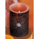 Flameless LED Halloween Spider Candle with Spooky Sounds