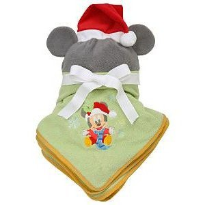 Mickey Mouse Holiday Stroller Blanket and Hat Set from Disney
