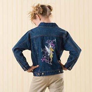 Disney Tinker Bell Fairies Denim Jacket size XS (4)