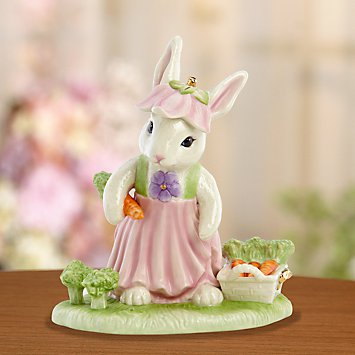 Lenox Bunny Harvest Figurine - Collectible Bunny Rabbit
