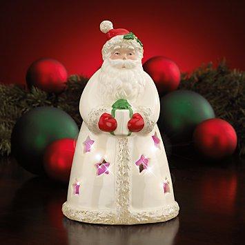 Lighted Seasons Sparkle Santa Figurine - Lenox