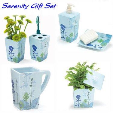 Serenity Gift Set-Ceramic Bathroom Accessories