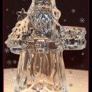 Holiday Elegance Santa Candleholder-USA Lead Crystal by St. George
