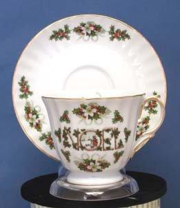 Christmas Noel Swirl Teacup - Fielder Keepsakes
