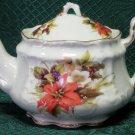 Fielder Keepsakes Victorian Teapot 3 Cup-Poinsettia-Porcelain Teapot