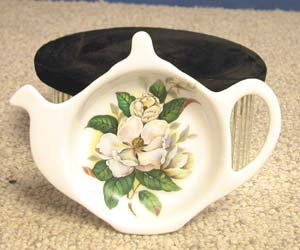 Magnolia Porcelain Teapot Tea Caddy by Fielder Keepsakes