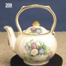 Fielder Keepsakes Morning Glory Porcelain Victorian 1 Cup Teapot