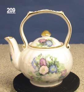 Fielder Keepsakes Morning Glory Porcelain Victorian 1 Cup Teapot