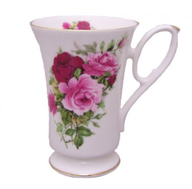 Berta Hedstrom Summertime Rose Bone China Pedestal Mug
