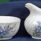 Forget Me Not Nesting Creamer & Sugar Bowl Set-Heirloom Bone China