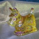 Mosser Honey Carnival Glass Scottie Dog