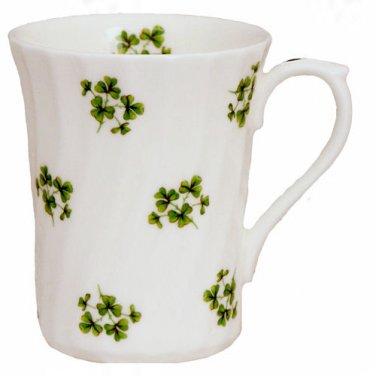 Shamrock Swirl Mug Set-Heirloom English Bone China-Set of 2