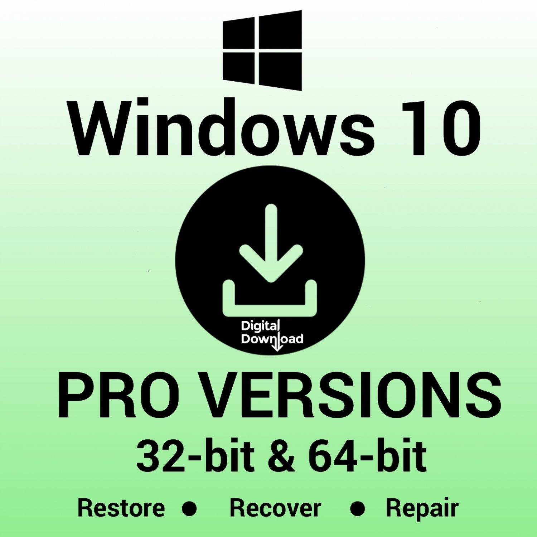Windows 10 Pro UEFI 32 64 Bit Reinstall Download Link & Media Creator Tool