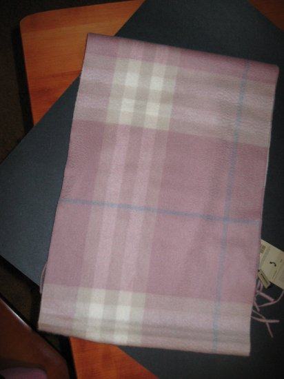 100% Auth., 100% Cashmere Burberry Giant Check Scarf -Retails $295