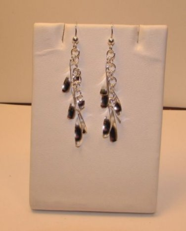 Sparkly 925 Sterling Silver Dangle Earrings hook drop