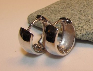 925 Sterling Silver Hoop Huggy Huggie Earrings