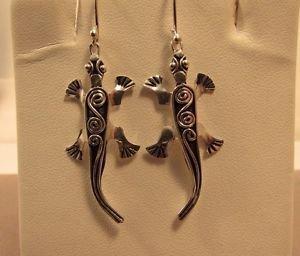 Cute Aligator 925 Sterling Sliver Dangle Hook Earrings
