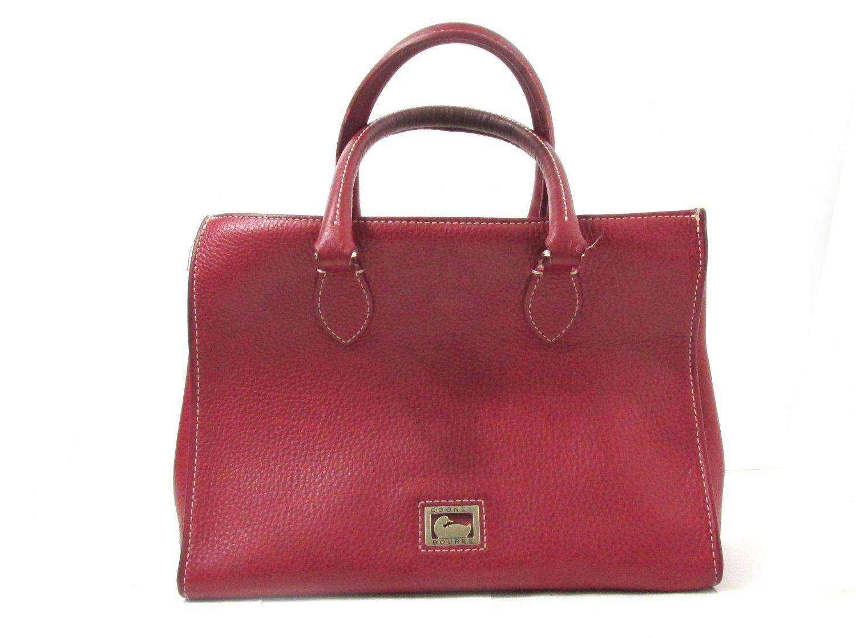 Dooney Bourke Red Pebble Leather Handbag Used
