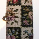 VINTAGE *1950's * FLORAL EMROIDERED CHANGE PURSE * OVERALL GOOD CONDITION*