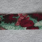 "NEW*1990*VINTAGE CLOTH RIBBON*8 YDS+*1 3/8""W*MULTI COLORED CALADIUM LEAVES FOLIAGE*"