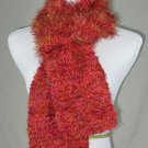 FO FIRZ*SHADES OF PINK, GARNET, MAUVE*EACH ONE OF A KIND*HAND KNIT*PLUSH*COZY*SCARVES