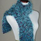 FO FIRZ*SHADES OF TURQUOISE*EACH ONE OF A KIND*HAND KNIT*PLUSH*COZY * SCARVES