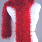 FO FIRZ*SHADES OF RICH VIVID REDS*EACH ONE OF A KIND*HAND KNIT*PLUSH*COZY * SCARVES