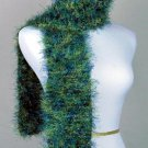 FO FIRZ*SHADES GREENS AND BLUES*EACH ONE OF A KIND*HAND KNIT*PLUSH*COZY*SCARVES