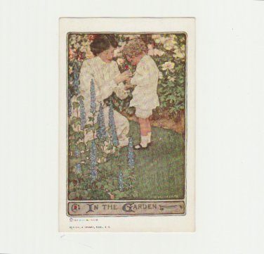 Vintage Postcard Signed Jessie Willcox Smith - USA Mother and Child in Garden