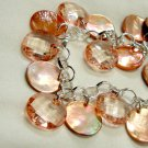 Peach Pink Mother of Pearl Bracelet - Whisper Light