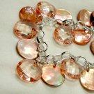 Peach Pink Mother of Pearl Bracelet - Whisper Light