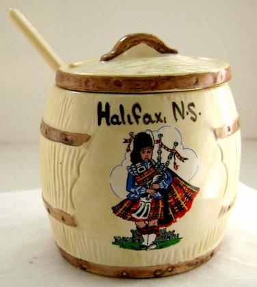 Vintage Condiment Jar - Manor Ware - Souvenir of Canada 1970s