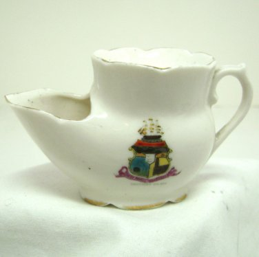 Vintage Mini Shaving Mug - Scuttle Miniature - Crested Ware Ship  Southend on Sea, England