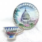 Vintage Washington D.C. Souvenir Mini Cup and Saucer - ACAPSCO Japan