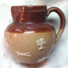 Vintage Doulton Lambeth Miniature Jug / Pitcher - Tree Dog Windmill - England NOT MINT
