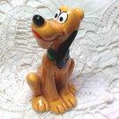 "Vintage Pluto Disney Dog Ceramic Figurine Japan Orange Cute - Original Price Label - 2-1/2"""
