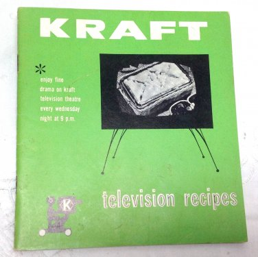 Kraft Television Recipes - Vintage 1950s Booklet Advertising Kraft Products