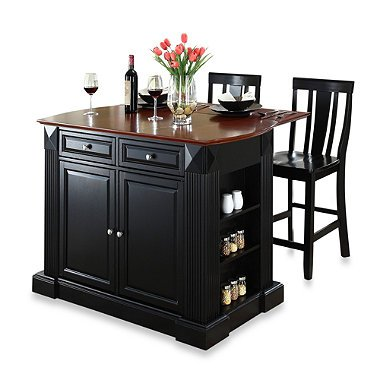 Crosley furniture drop leaf breakfast bar kitchen island for 24 inch kitchen island