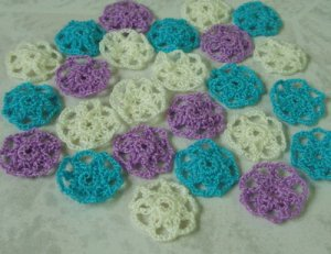 Crochet flower for decoration
