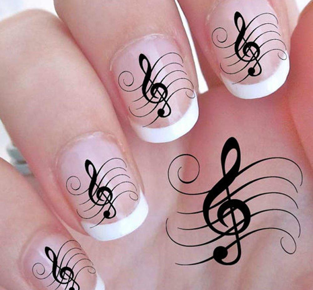 Рисунки для ногтей с нотами