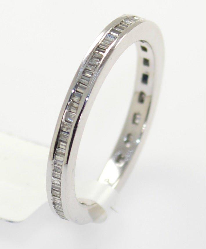 0.50 Carat Baguette Cut Diamonds Full Eternity Wedding Ring in 9K White Gold