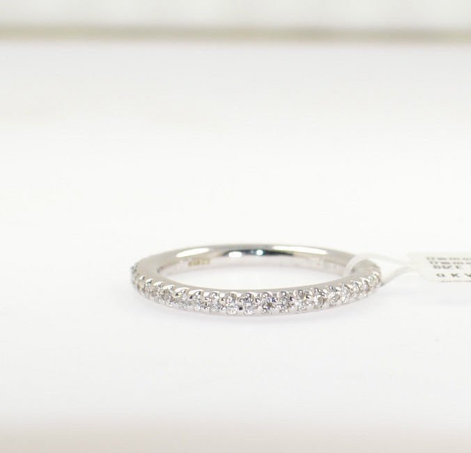 0.48ct Round Brilliant Cut Diamonds Full Eternity Wedding Ring In 9K White Gold
