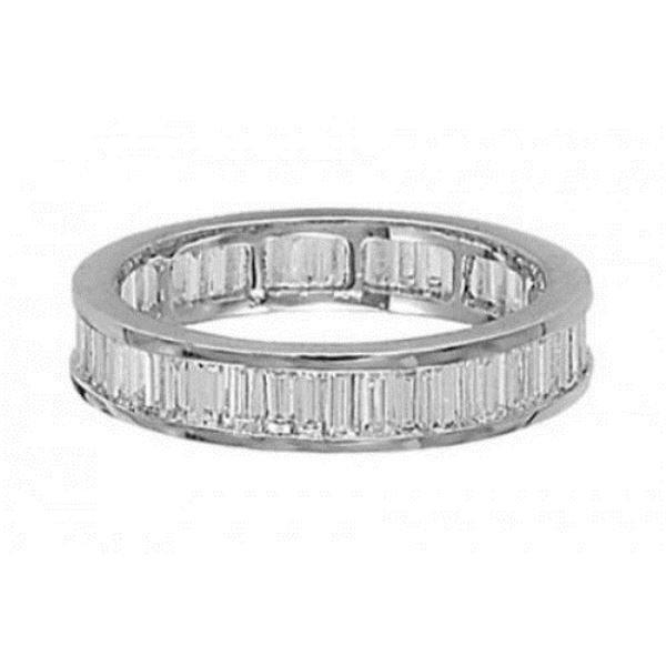 1ct BAGUETTE CUT DIAMONDS FULL ETERNITY WEDDING RING IN SOLID 9K WHITE GOLD