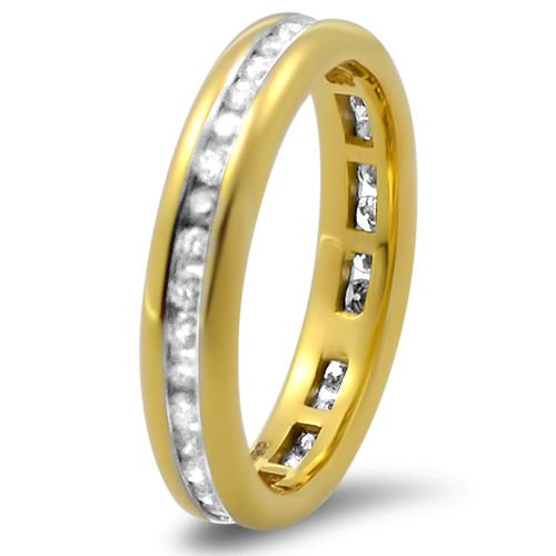 9k Yellow Gold G/SI 0.50 ct Round Diamonds Full Eternity Wedding Ring