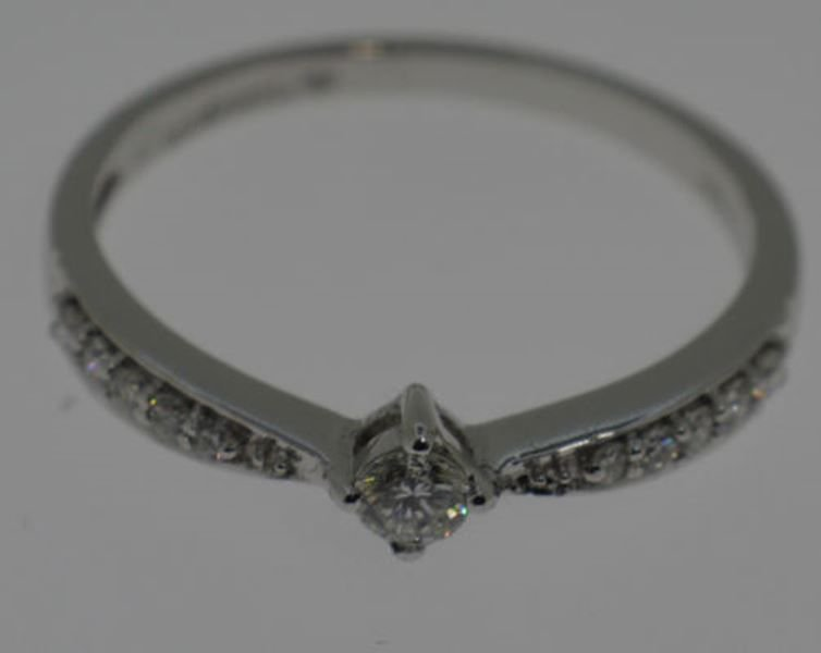 E-F / SI 0.25CT ROUND DIAMONDS ENGAGEMENT RING IN 18K WHITE GOLD,SIZE Q