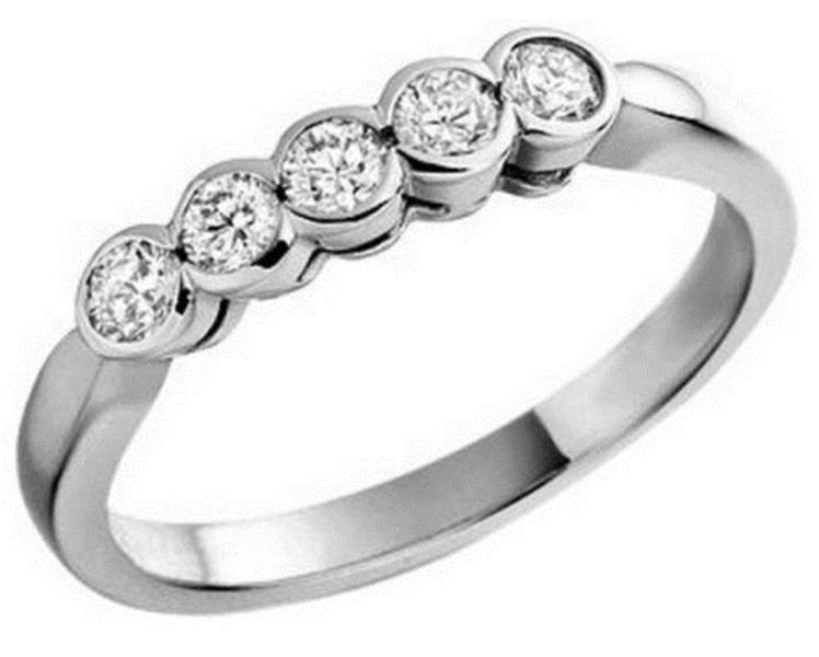 0.25CT DIAMOND HALF ETERNITY WEDDING RING,9K WHITE GOLD HALLMARKED BY ASSAY OFFICE LONDON