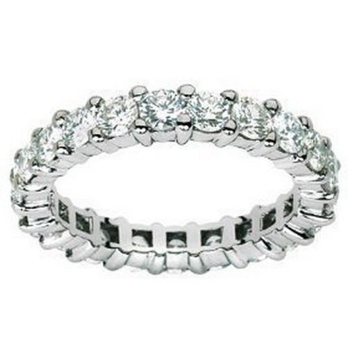 F/SI 2ct Round Brilliant Cut Diamond Full Eternity Wedding Ring ,18K White Gold from finediamondsrus